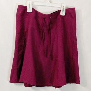 Athleta Magenta Daydream Linen Skirt Size  10